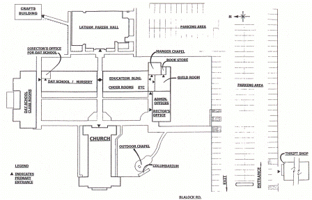 St. Christopher's Church Facility Map