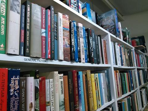 Large book selection.